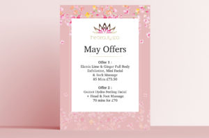 Beauty Spa Pink Floral Poster