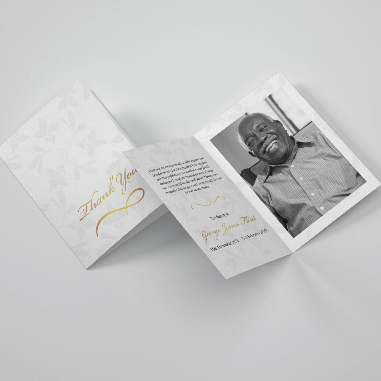 Funeral Thank You Card